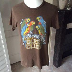 Disney Tiki Birds Parrots Glee Club Brown Tshirt